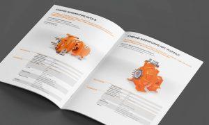 Referenz – Industrie – Broschüre, Lieferprogramm Doppelseite