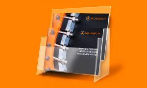 Referenz – Industrie – Broschüre, Lieferprogramm mini im Ständer