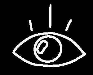 Icon Auge, Symbol für unsere Leistungen aus dem Bereich Wahrnehmung.
