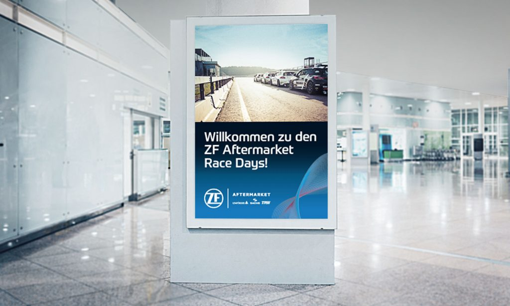 Referenz – Automotive – Race Days – Willkommen – Flughafen – Citylight – Poster